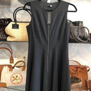 "THEORY ""BONBI"" Little Black Zipper Front Dress"